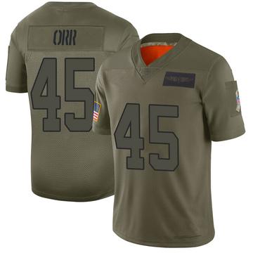 Youth Nike Carolina Panthers Chris Orr Camo 2019 Salute to Service Jersey - Limited