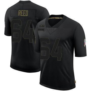 Youth Nike Carolina Panthers Chris Reed Black 2020 Salute To Service Jersey - Limited