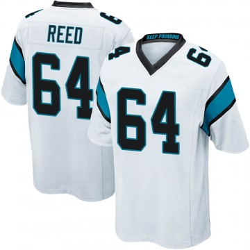 Youth Nike Carolina Panthers Chris Reed White Jersey - Game