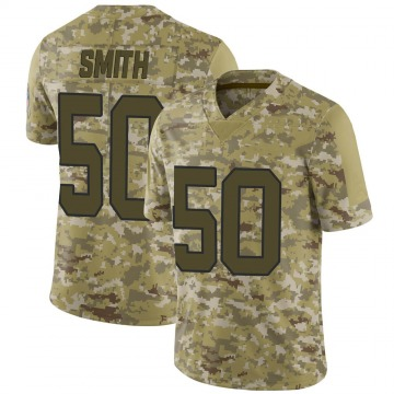 Youth Nike Carolina Panthers Chris Smith Camo 2018 Salute to Service Jersey - Limited