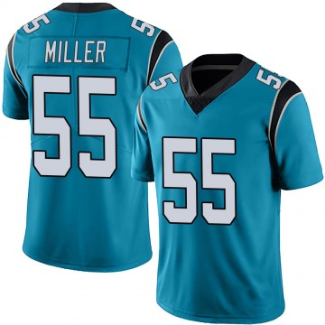 Youth Nike Carolina Panthers Christian Miller Blue Alternate Vapor Untouchable Jersey - Limited
