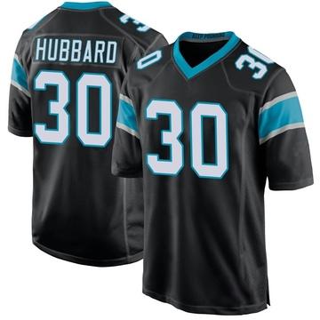 Youth Nike Carolina Panthers Chuba Hubbard Black Team Color Jersey - Game