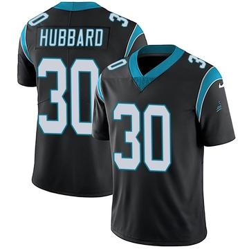 Youth Nike Carolina Panthers Chuba Hubbard Black Team Color Vapor Untouchable Jersey - Limited
