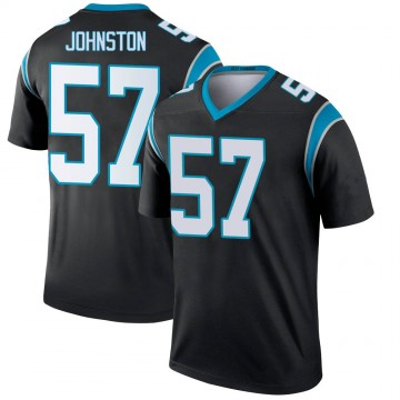Youth Nike Carolina Panthers Clay Johnston Black Jersey - Legend