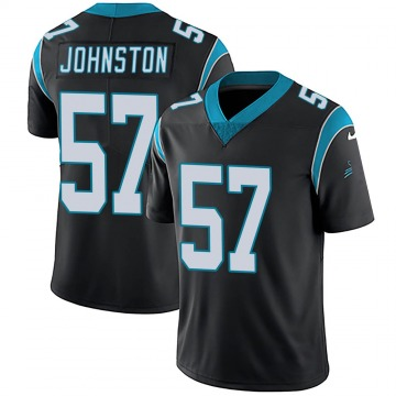 Youth Nike Carolina Panthers Clay Johnston Black Team Color Vapor Untouchable Jersey - Limited