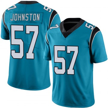 Youth Nike Carolina Panthers Clay Johnston Blue Alternate Vapor Untouchable Jersey - Limited