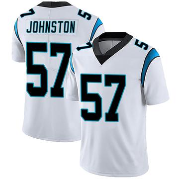Youth Nike Carolina Panthers Clay Johnston White Vapor Untouchable Jersey - Limited