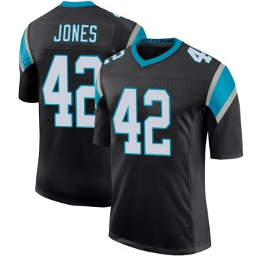 Youth Nike Carolina Panthers Colin Jones Black Team Color 100th Vapor Untouchable Jersey - Limited