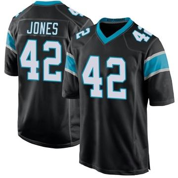Youth Nike Carolina Panthers Colin Jones Black Team Color Jersey - Game