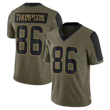 Youth Nike Carolina Panthers Colin Thompson Olive 2021 Salute To Service Jersey - Limited