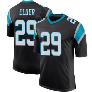 Youth Nike Carolina Panthers Corn Elder Black Team Color 100th Vapor Untouchable Jersey - Limited
