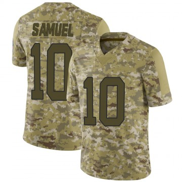 Youth Nike Carolina Panthers Curtis Samuel Camo 2018 Salute to Service Jersey - Limited