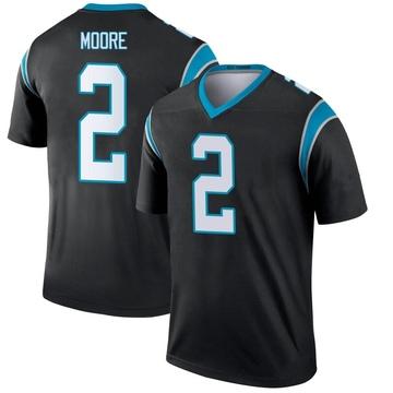 Youth Nike Carolina Panthers DJ Moore Black Jersey - Legend