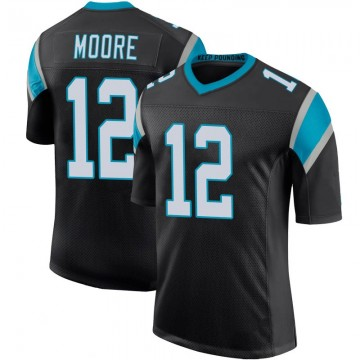 Youth Nike Carolina Panthers DJ Moore Black Team Color 100th Vapor Untouchable Jersey - Limited