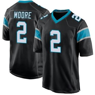 Youth Nike Carolina Panthers DJ Moore Black Team Color Jersey - Game