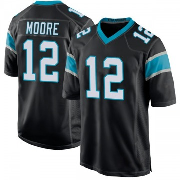 Youth Nike Carolina Panthers DJ Moore Black Team Color Jersey - Game
