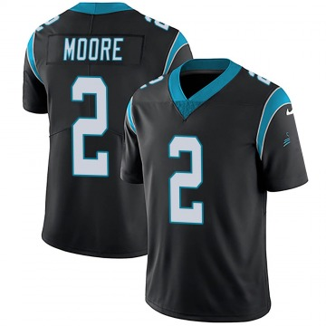 Youth Nike Carolina Panthers DJ Moore Black Team Color Vapor Untouchable Jersey - Limited