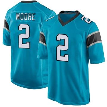 Youth Nike Carolina Panthers DJ Moore Blue Alternate Jersey - Game