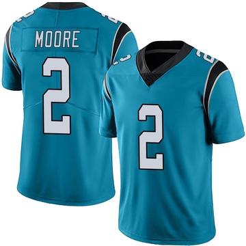 Youth Nike Carolina Panthers DJ Moore Blue Alternate Vapor Untouchable Jersey - Limited