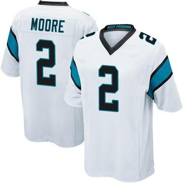 Youth Nike Carolina Panthers DJ Moore White Jersey - Game