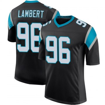 Youth Nike Carolina Panthers DaVonte Lambert Black Team Color 100th Vapor Untouchable Jersey - Limited
