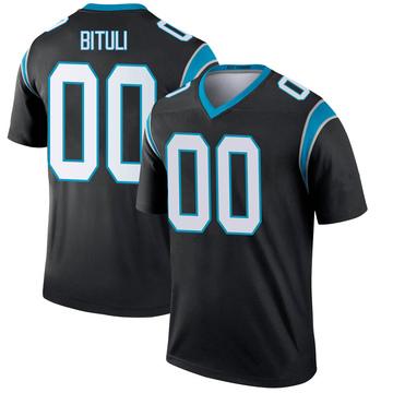 Youth Nike Carolina Panthers Daniel Bituli Black Jersey - Legend