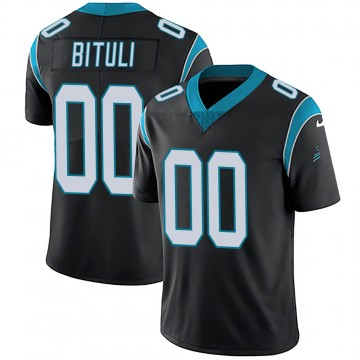Youth Nike Carolina Panthers Daniel Bituli Black Team Color Vapor Untouchable Jersey - Limited
