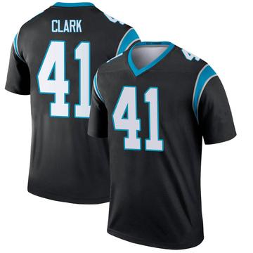 Youth Nike Carolina Panthers Darius Clark Black Jersey - Legend