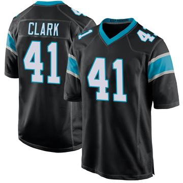 Youth Nike Carolina Panthers Darius Clark Black Team Color Jersey - Game