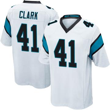 Youth Nike Carolina Panthers Darius Clark White Jersey - Game