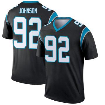 Youth Nike Carolina Panthers Darryl Johnson Black Jersey - Legend