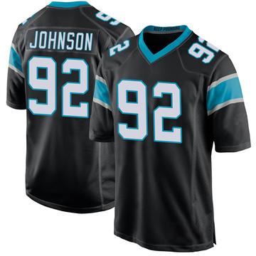 Youth Nike Carolina Panthers Darryl Johnson Black Team Color Jersey - Game