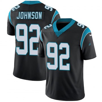 Youth Nike Carolina Panthers Darryl Johnson Black Team Color Vapor Untouchable Jersey - Limited