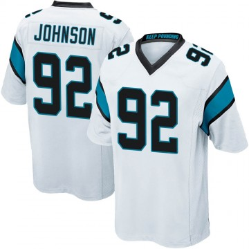Youth Nike Carolina Panthers Darryl Johnson White Jersey - Game