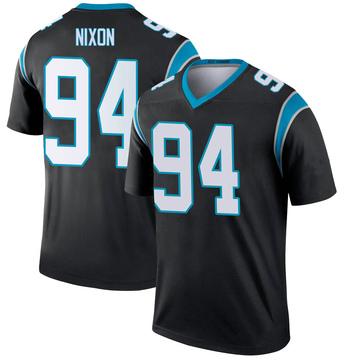 Youth Nike Carolina Panthers Daviyon Nixon Black Jersey - Legend