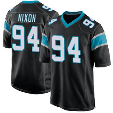 Youth Nike Carolina Panthers Daviyon Nixon Black Team Color Jersey - Game