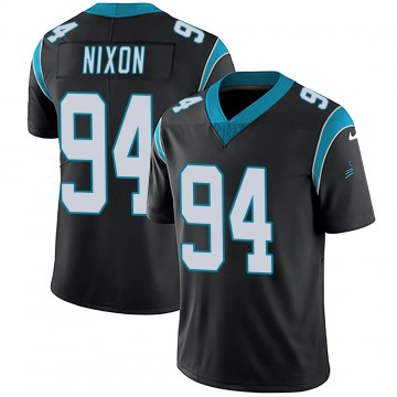 Youth Nike Carolina Panthers Daviyon Nixon Black Team Color Vapor Untouchable Jersey - Limited