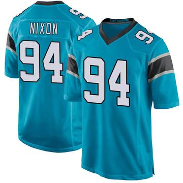 Youth Nike Carolina Panthers Daviyon Nixon Blue Alternate Jersey - Game