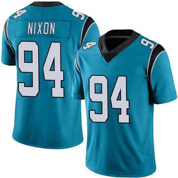 Youth Nike Carolina Panthers Daviyon Nixon Blue Alternate Vapor Untouchable Jersey - Limited