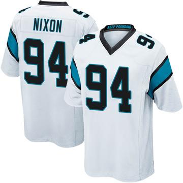 Youth Nike Carolina Panthers Daviyon Nixon White Jersey - Game