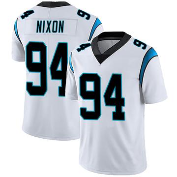 Youth Nike Carolina Panthers Daviyon Nixon White Vapor Untouchable Jersey - Limited