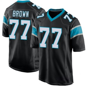 Youth Nike Carolina Panthers Deonte Brown Black Team Color Jersey - Game