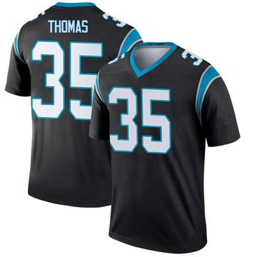 Youth Nike Carolina Panthers Derrek Thomas Black Jersey - Legend