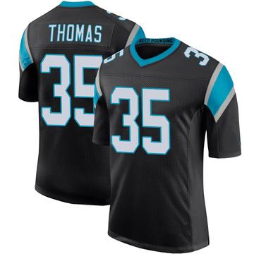 Youth Nike Carolina Panthers Derrek Thomas Black Team Color 100th Vapor Untouchable Jersey - Limited