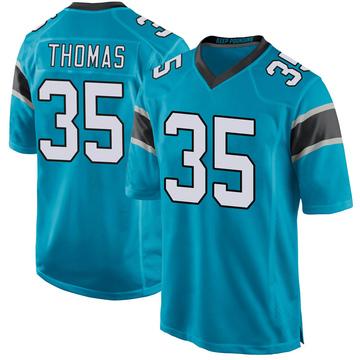 Youth Nike Carolina Panthers Derrek Thomas Blue Alternate Jersey - Game