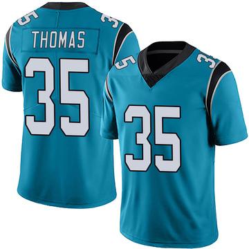 Youth Nike Carolina Panthers Derrek Thomas Blue Alternate Vapor Untouchable Jersey - Limited