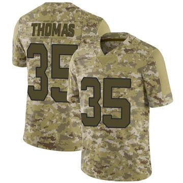 Youth Nike Carolina Panthers Derrek Thomas Camo 2018 Salute to Service Jersey - Limited