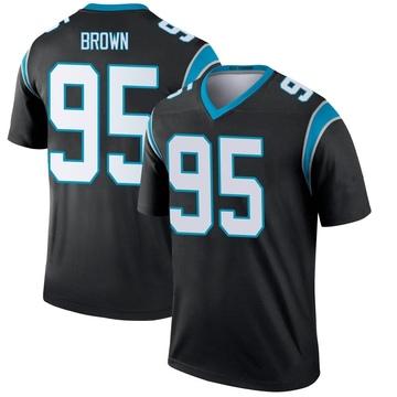 Youth Nike Carolina Panthers Derrick Brown Black Jersey - Legend