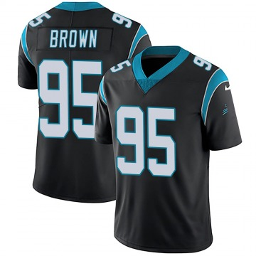 Youth Nike Carolina Panthers Derrick Brown Black Team Color Vapor Untouchable Jersey - Limited