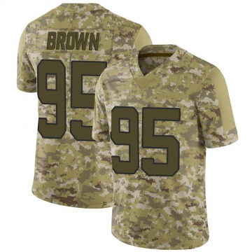 Youth Nike Carolina Panthers Derrick Brown Brown Camo 2018 Salute to Service Jersey - Limited